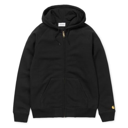 Carhartt Hooded Chase Jacket - Black/Gold