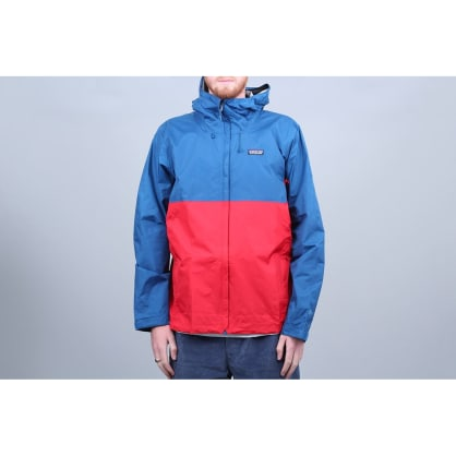 Patagonia Torrentshell Jacket Big Sur Blue W / Fire Red