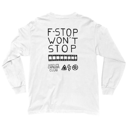 The Quiet Life F-Stop Long Sleeve Tee - White