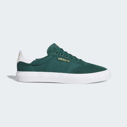 Adidas 3MC Vulc Shoes - Collegiate Green/Cloud White/Collegiate Green