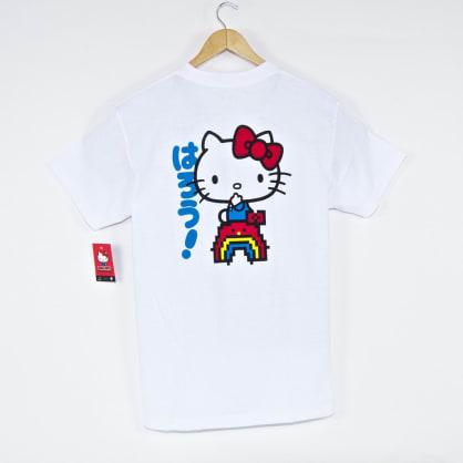 Girl Skateboards - Rainbow Hello Kitty T-Shirt - White