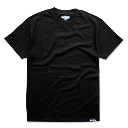 Fifty Fifty Tonal Embroidered T-Shirt Black