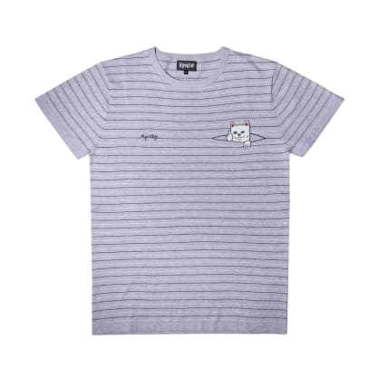 Rip N Dip Peeking Nermal Knit T-Shirt Grey/Black