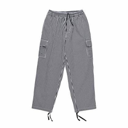 Polar Skate Co. Stripe Cargo Trousers - White/Black