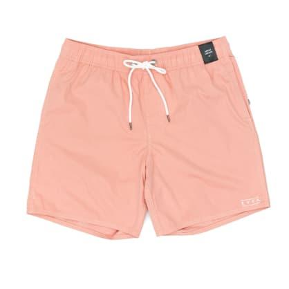 RVCA Gerrard Elastic Trunk Shorts - Coral