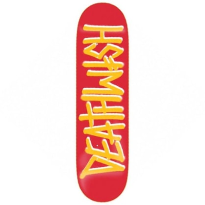 Deathwish Skateboards Deathspray Red/Gold Skateboard Deck - 8.3875