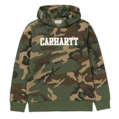 Carhartt Hooded College Sweatshirt - Camo Laurel/White