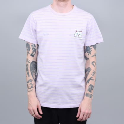 RIPNDIP Peeking Nermal Knit T-Shirt Lavender / Lime