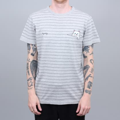 RIPNDIP Peeking Nermal Knit T-Shirt Grey / Black