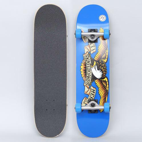 Anti Hero 7.38 Team Eagle Mini Complete Skateboard Blue