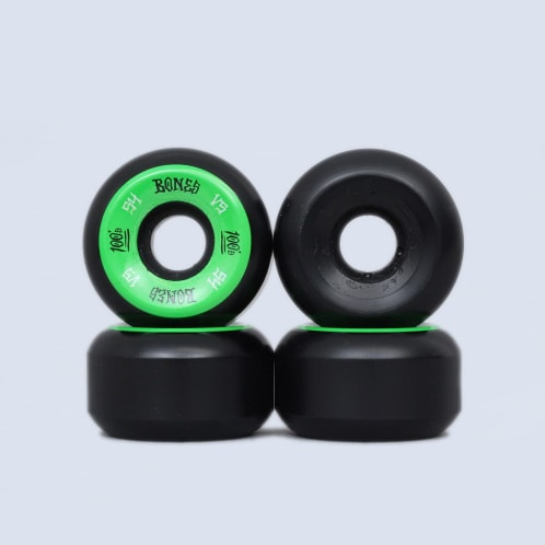 Bones 54mm 100's V5 Wheels Black / Green