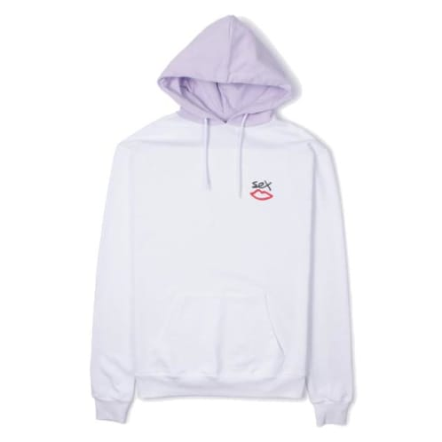 Sex Skateboards Two Tone Hooded Sweatshirt - White/Lilac