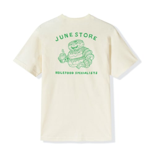 June - Hole Food Specialist Tee - Natural, Green