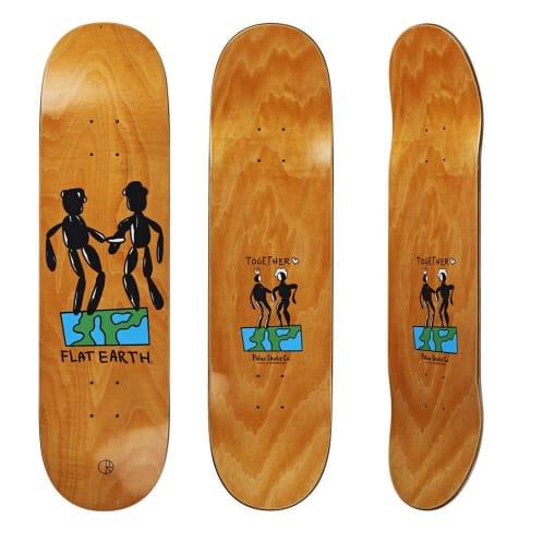 "Polar Skate Co ""Flat Eart"" Skateboard Deck 8.25"""
