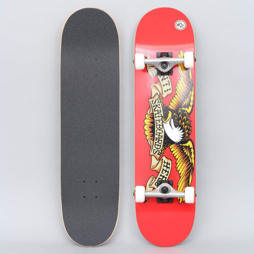 Anti Hero 8 Team Eagle Large Complete Skateboard Red