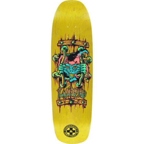 "Black Label Skateboards John Lucero ""X2"" Deck- 8.88 Yellow Stain"
