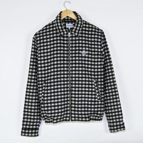 The National Skateboard Co. - Wool Harrington Jacket - Checked Black / Light Grey