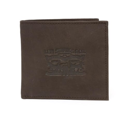 Levis Vintage Two Horse BiFold Coin Wallet - Dark Brown