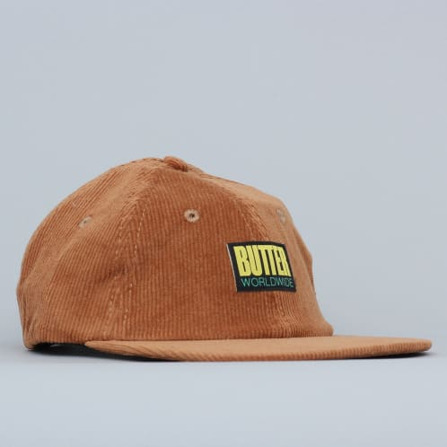 Butter Goods Thomas Corduroy 6 Panel Cap Brown