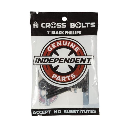 """1 Inch Phillips Bolts Black 