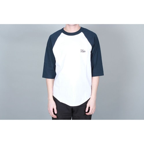 DQM 8 Bit Raglan Sleeve Baseball T-Shirt White / Navy