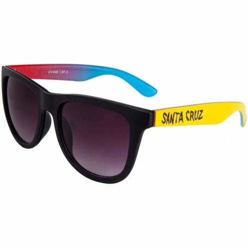 Santa Cruz Fade Hand Sunglasses - Black/Yellow