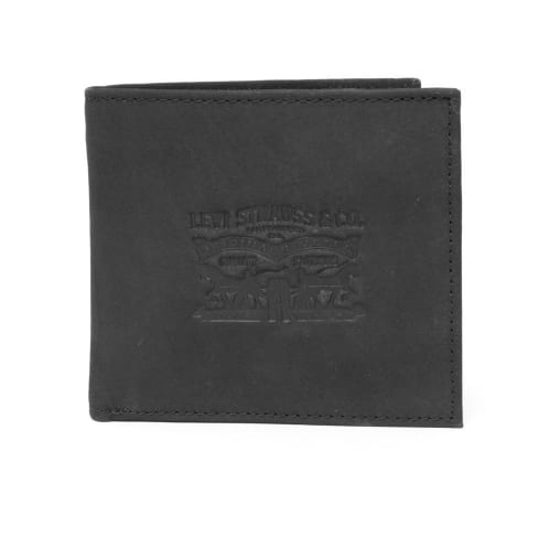 Levis Vintage Two Horse BiFold Coin Wallet - Black
