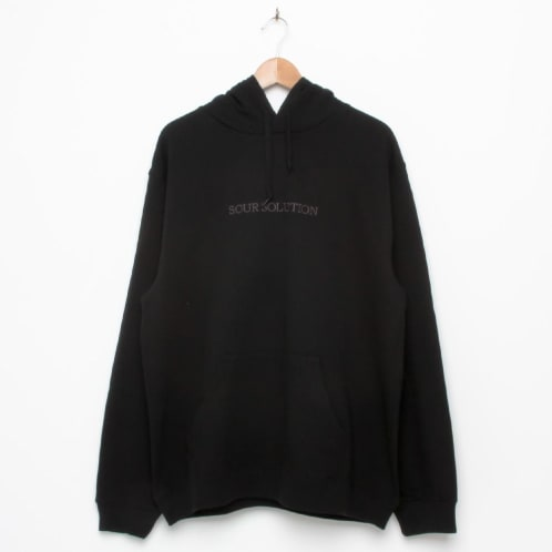 Sour Solution Embroidered Hood Black