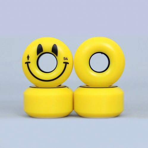 Girl 54mm Happy Wheels Yellow