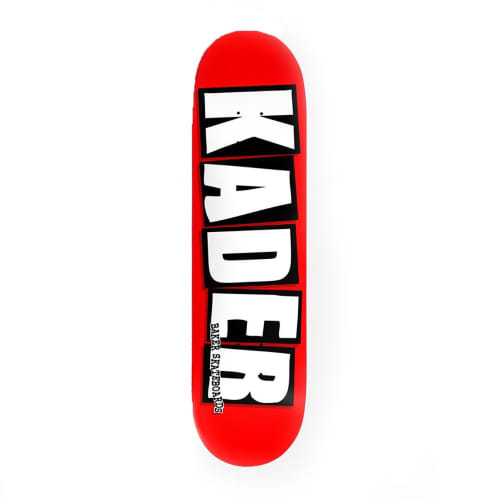 Baker Skateboards Kader Pro Logo Deck - Red/Black