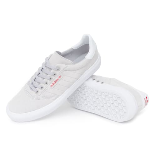 Adidas 3MC Vulc Shoes - Grey/FTW White/Scarlet
