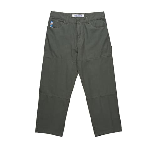 Polar Skate Co. 93 Canvas Pants - Grey/Green