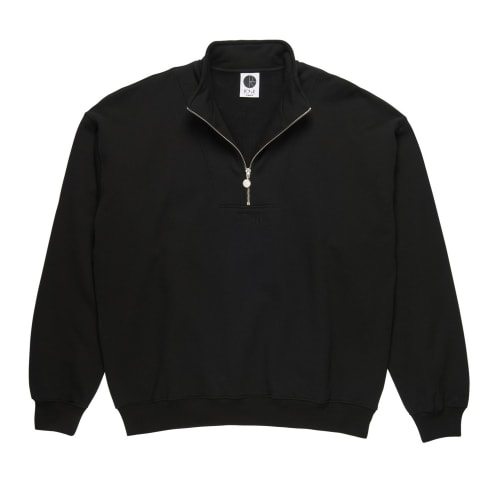 Polar Zip Neck Sweatshirt - Black