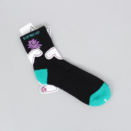 RIPNDIP Tucked In Socks Black/Teal