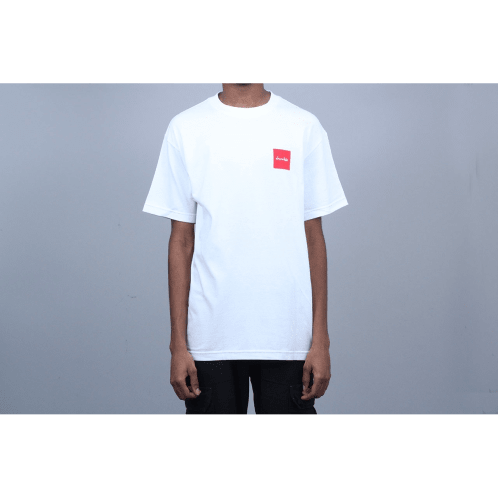 Chocolate Red Square T-Shirt White