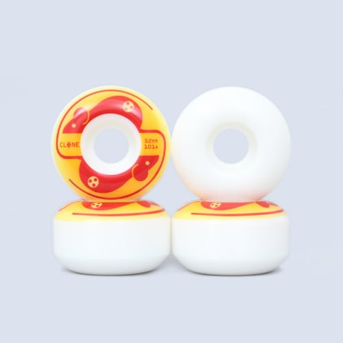 Alien Workshop 52mm 101A Mice Clone Wheels White