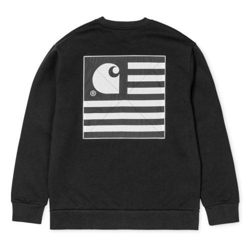 Carhartt State Patch Sweatshirt - Black