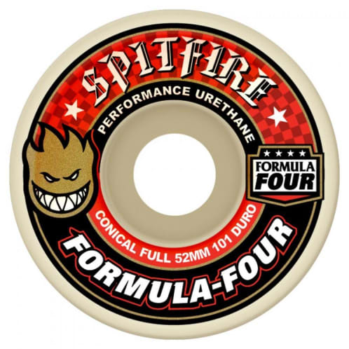 Spitfire Formula Four Full Conical Wheels Natural 54 mm 101