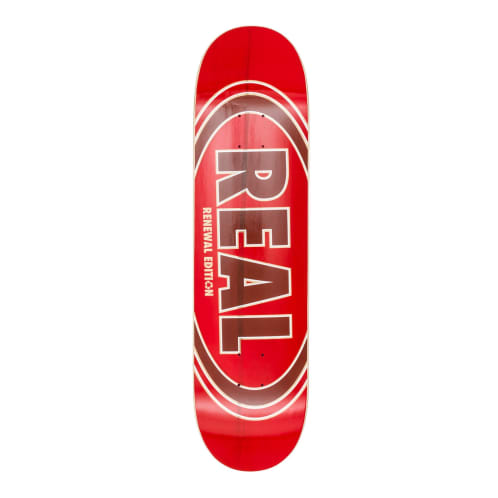 Real Oval Duo Fade Red Deck - 8.06""