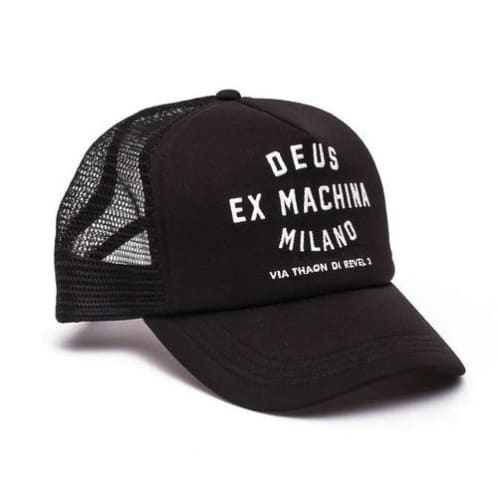 Milano Address Trucker Cap | Black