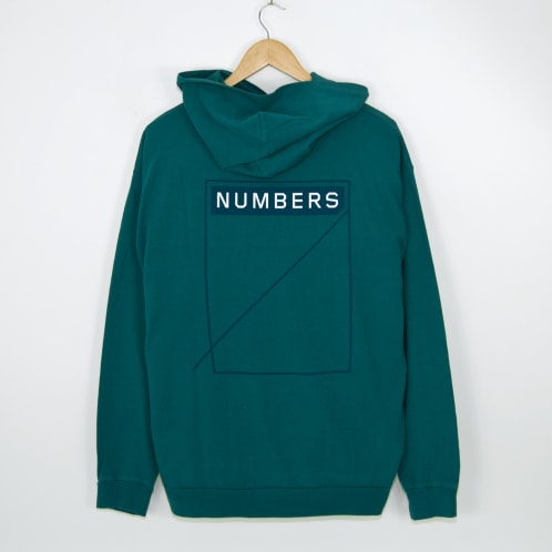 Numbers Edition - Two Tone 12:45 Angel Pullover Hooded Sweatshirt - Deep Turquoise