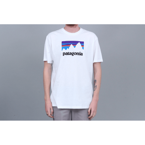 Patagonia Shop Sticker Responsibili T-Shirt White