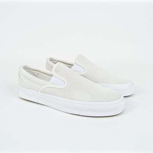Converse Cons - One Star CC Slip-On Shoes - Egret / Navy / White