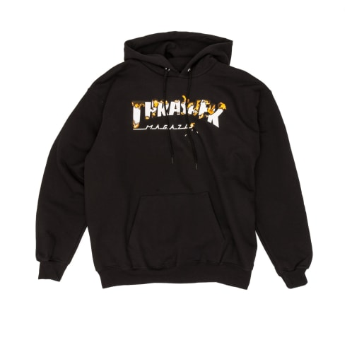 Thrasher Intro Burner Hooded Sweatshirt - Black
