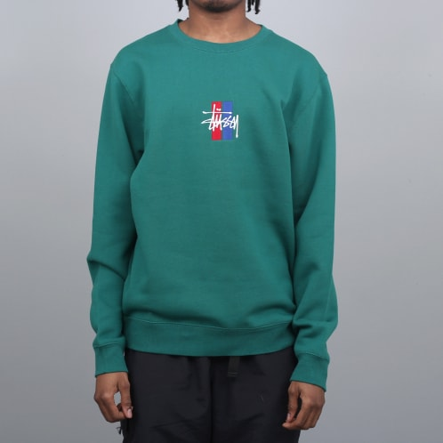 Stussy 2 Bar Stock App Crew Green