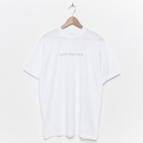 Sour Solution Embroidered White