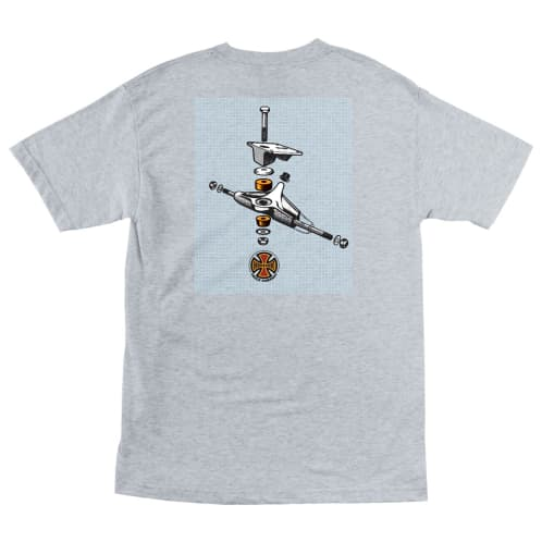Thrasher X Independent BTG S/S Tee - Ash Heather