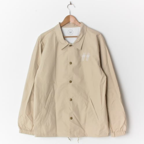 Scumco & Sons Coach Jacket Tan (with Back Print)