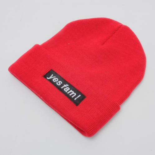 YES FAM! BEANIE RED
