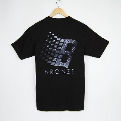 Bronze 56K - Diamond Plate Classic Logo T-Shirt - Black